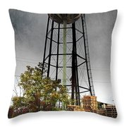 Rustic Water Tower Throw Pillow