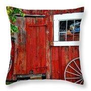 Rustic Window Pane Throw Pillow