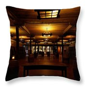 Rustic Wine Cellar Throw Pillow