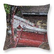 Rustic Winter Throw Pillow