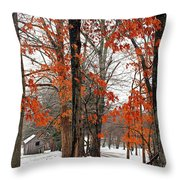 Rustic Winter Throw Pillow