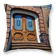 Rustic Wood Charleston Door Throw Pillow