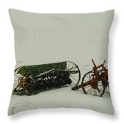 Rusting In The Snow Throw Pillow