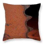 Rusting Orange Gear   #0007 Throw Pillow