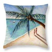 Rustling Palm Throw Pillow