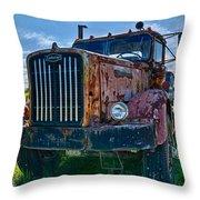 Rusty Autocar Throw Pillow