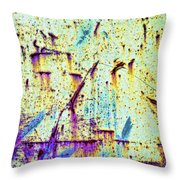 Rusty Background Throw Pillow