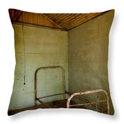 Rusty Bed Throw Pillow