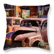 Rusty Cars  Throw Pillow