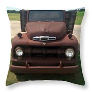 Rusty Ford Truck Throw Pillow