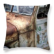 Rusty Classic Willy's Jeep Pickup Throw Pillow