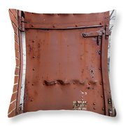 Rusty Door 1 Throw Pillow