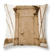 Rusty Door Throw Pillow