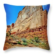 Rusty Fin Throw Pillow
