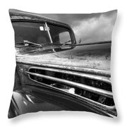 Rusty Ford 1942 Black And White Throw Pillow