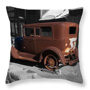 Rusty Ford Throw Pillow