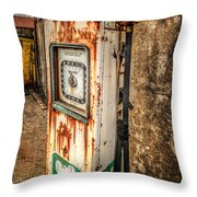 Rusty Gas Pump Throw Pillow
