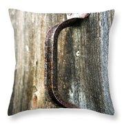 Rusty Handle Throw Pillow