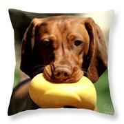 Rusty Has A Duck Throw Pillow