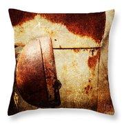 Rusty Headlamp Throw Pillow