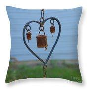 Rusty Heart 2 Throw Pillow