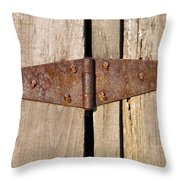 Rusty Hinge Throw Pillow