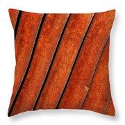 Rusty Hood Louvers Throw Pillow