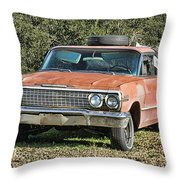 Rusty Impala Throw Pillow