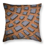 Rusty Iron Hatch Throw Pillow