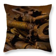Rusty Keys Throw Pillow