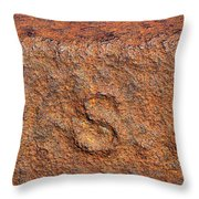Rusty Letters Usa Throw Pillow