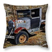 Rusty Model Aa Ford Throw Pillow