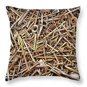 Rusty Nails Throw Pillow