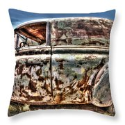 Rusty Old American Dreams - 4 Throw Pillow