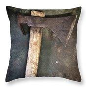 Rusty Old Axe Throw Pillow