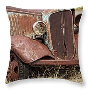 Rusty Old Chevy Throw Pillow