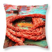 Rusty Old Ship Throw Pillow