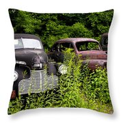 Rusty Old Transportation Throw Pillow