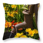 Rusty Old Water Pump Throw Pillow