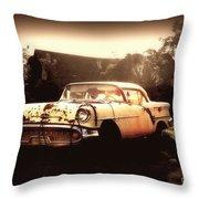 Rusty Oldsmobile Throw Pillow