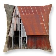 Rusty Ole Barn Throw Pillow