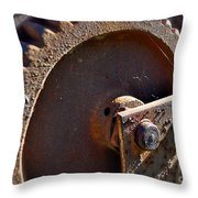 Rusty Picking Throw Pillow by Gwyn Newcombe