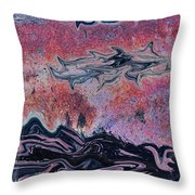 Rusty Pink Throw Pillow