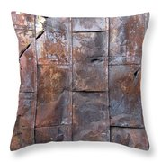 Rusty Plate Door 2 Throw Pillow
