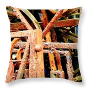 Rusty Railings Throw Pillow