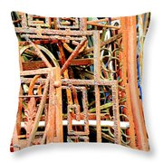 Rusty Railings Square Throw Pillow