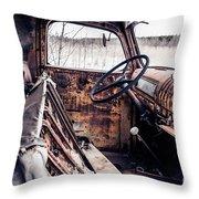 Rusty Relic Truck Throw Pillow
