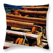 Rusty Remains Throw Pillow