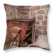 Rusty Ruins In Jerome Arizona Throw Pillow