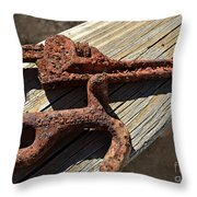 Rusty Tools II Throw Pillow